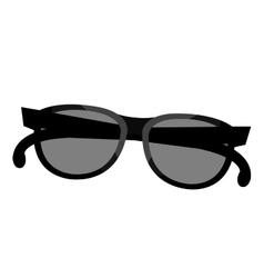 black and grey sunglasses graphic vector image