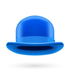Blue bowler hat vector