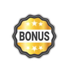 bonus label sticker golden icon seal sale sign vector image