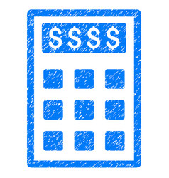 Book-keeping calculator icon grunge watermark vector