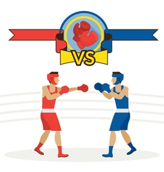 Boxing athlete fighting vector