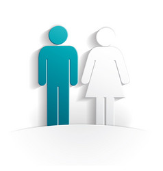 boy and girl paper icon vector image
