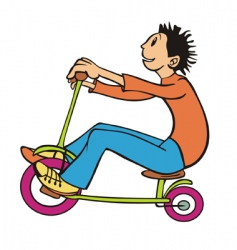 boy on a bike vector image