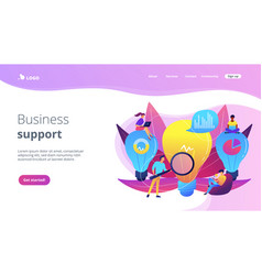 business solution concept landing page vector image