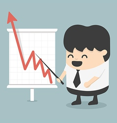 Businessman with business growing graph vector