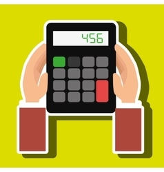 calculator accountant tax money vector image