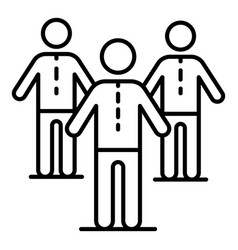 company people team icon outline style vector image