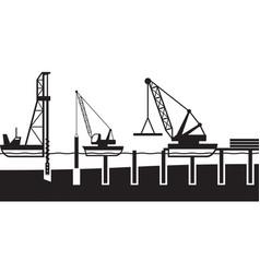 Construction of sea port vector