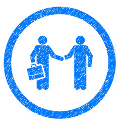 Contract meeting rounded grainy icon vector