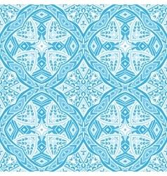 damask blue seamless tiled pattern vector image
