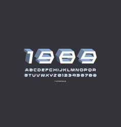 Decorative sans serif bulk font vector