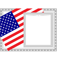 decorative usa flag card frame vector image