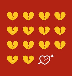 Different abstract hearts vector
