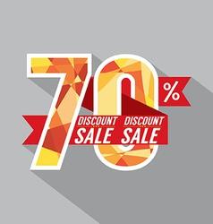 Discount 70 Percent Off vector image