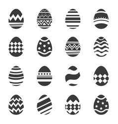 easter eggs icon isolated background set of vector image