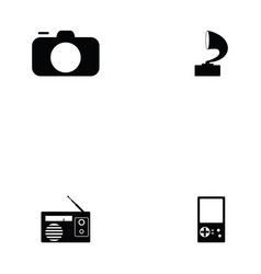 entertainment icon set vector image