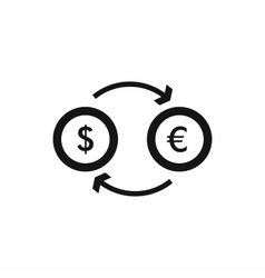 Euro dollar euro exchange icon simple style vector image