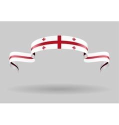 Georgian flag background vector
