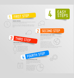 Infographic 4 steps template vector