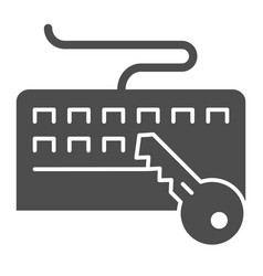 Keyboard and key solid icon keyboard protection vector