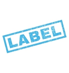 Label Rubber Stamp vector
