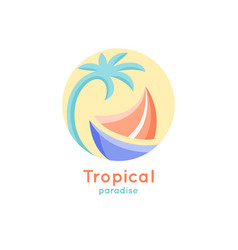 logo tropical ship vector image