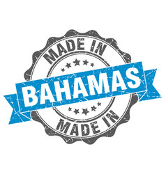 Made in bahamas round seal vector
