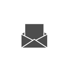 mail flat icon isolated on white background vector image