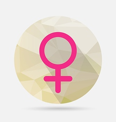 Male flat icon on geometric background vector image