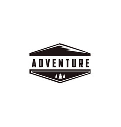 minimalist outdoor adventure mountain logo vector image