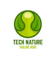 modern technology nature logo vector image