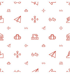 Move icons pattern seamless white background vector