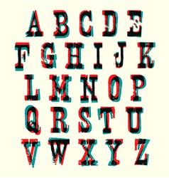 Multiply Alphabet vector