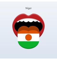 Niger language Abstract human tongue vector