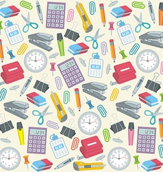 Office supplies seamless background vector