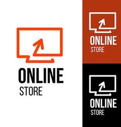 Online store design logo vector