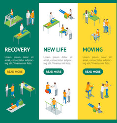 physiotherapy people 3d isometric view banner vector image