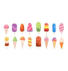 Popsicle ice cream summer creamy food frozen vector