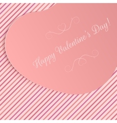 Realistic Valentines Day Big paper Heart Banner vector