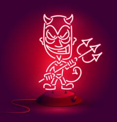 red devil neonyoung demon or devil vector image