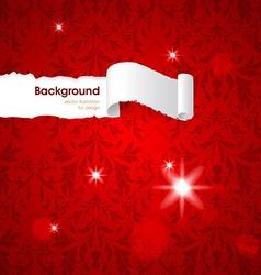Red Floral Patterned Background vector