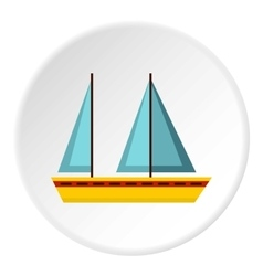 Sailing boat icon flat style vector