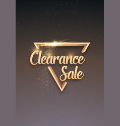 sale banner sticker template clearance sale vector image