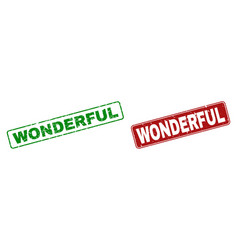 Scratched wonderful watermarks with rounded vector