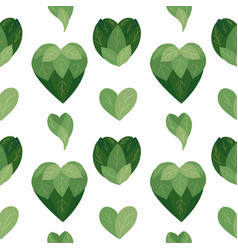 seamless flat pattern with bush hearts from vector image
