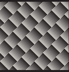 seamless optical pattern abstract striped tiling vector image