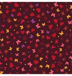 seamless valentine background vector image