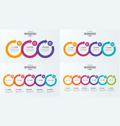 set timeline infographic templates vector image