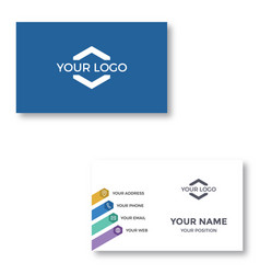 Simple modern corporate business card vector