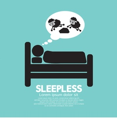 Sleepless Person Symbol vector image vector image
